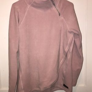 Sweater with the side neck zipper